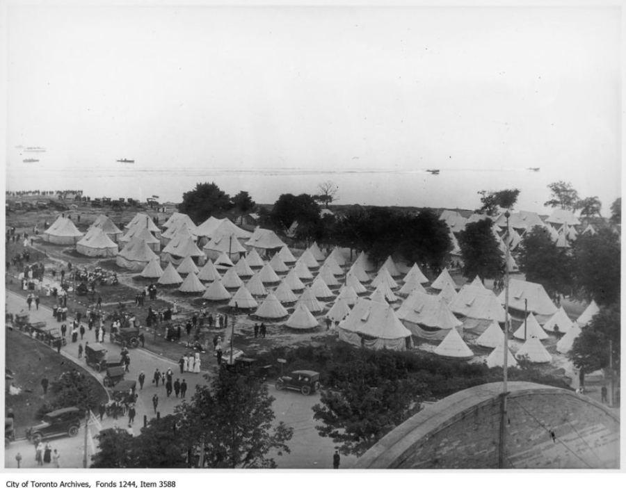 CNE Military Camp. - 1915
