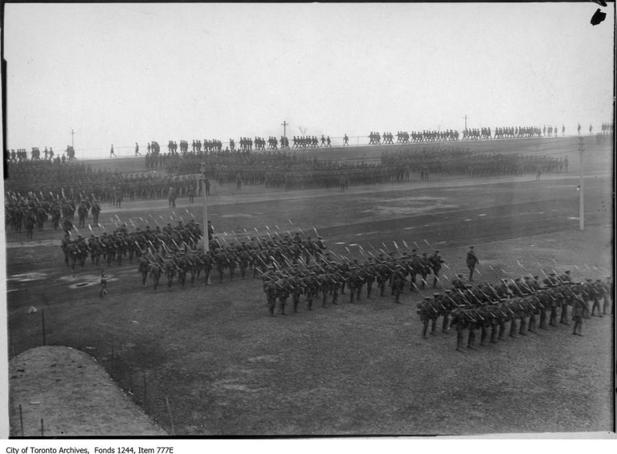 Formation marching, CNE camp. - 1915