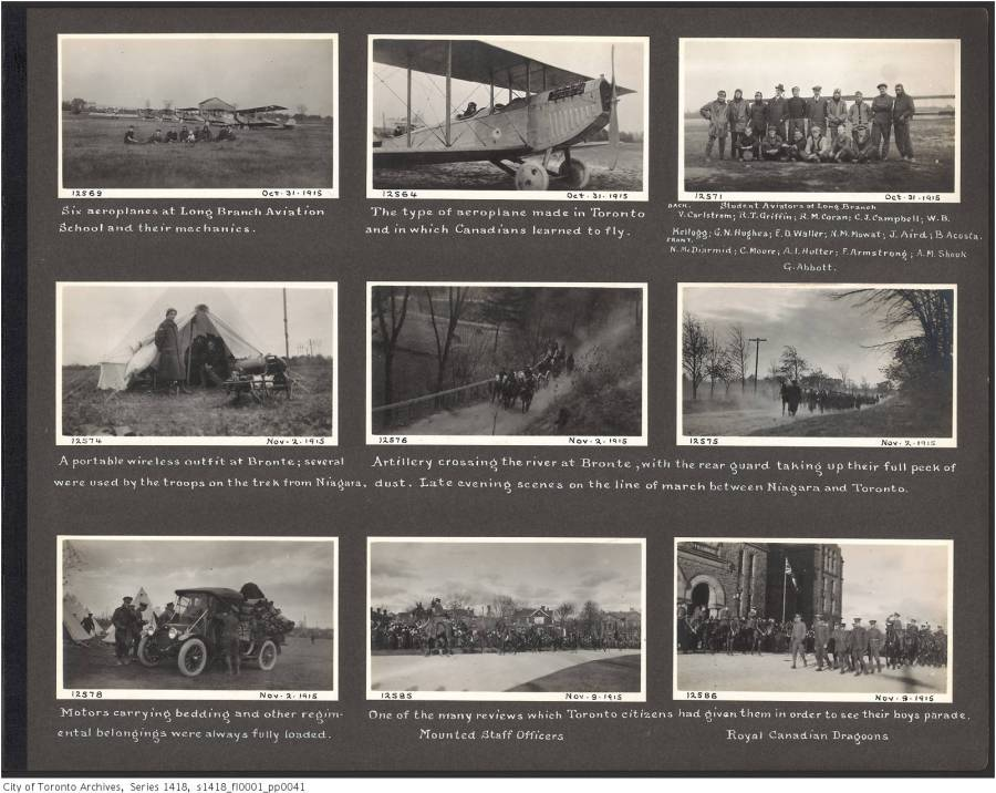 John Boyd Sr. Toronto military training photograph album