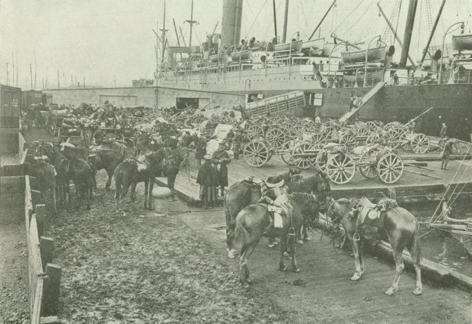 Saxonia loading for England.