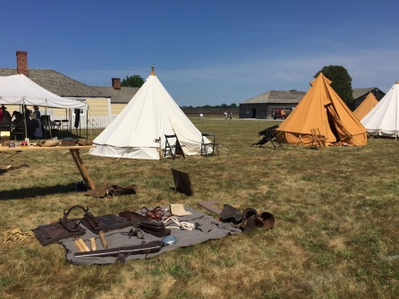 bell tents at Fort George