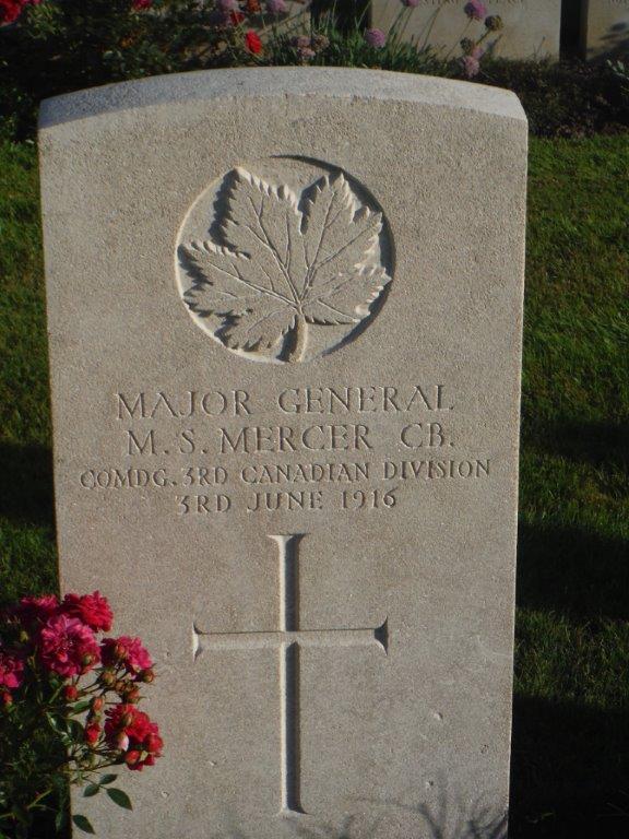 Gen Mercer Grave Marker