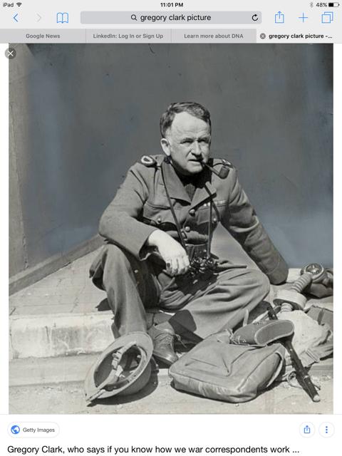 Greg Clark WW2 Correspondent